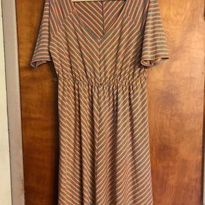 Torrid Orange And Gray Skater Dress Size 2X